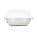 Svítidlo hliníkové oválné-kryté, 75/100W, bílá