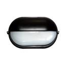 Svítidlo hliníkové oválné-kryté, 75/100W, černá
